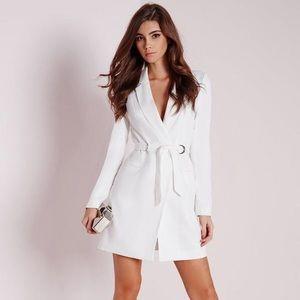 MISSGUIDED White Blazer Dress